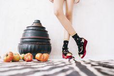 Calcetines Hop Socks. Follow the stars glitter black.  www.hopsocks.com Lucia M. Photo