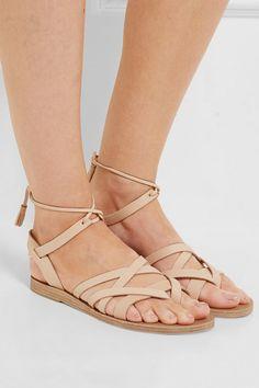 Valia Gabriel   Pink Gin leather sandals   NET-A-PORTER.COM
