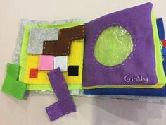 Tranquillo libro sensoriale del bambino di RainbowByRainbow