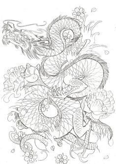 I love this dragon design! It would be perfect for my right thigh!