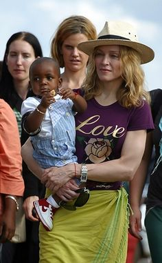 Baby Boy  Madonna holds her soon-to-be adopted son, David Banda, in Malawi on April 19th, 2007.