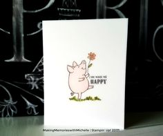 This Little Piggy, Water Color, Stampin' Up  MakingMemorieswithMichelle.com