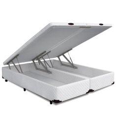 Copel Colchoes - Cama Box Queen Baú Frontal Pistão Novo Branco - copelcolchoes R$ 1190,00