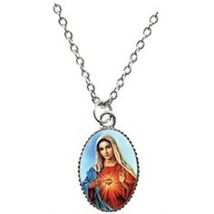 stainless nuestra medallion medal steel pendant mary virgin jewelry guadalupe de necklace chc senora az miraculous mother bling
