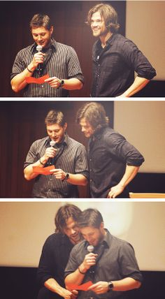#Jared and #Jensen closer and closer.