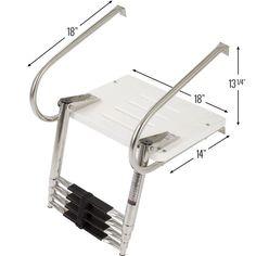 Boat ladder platform dimensions