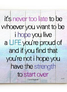 'It's Never Too Late'!!!!!!WOW, NEVER TO LATE!!!!