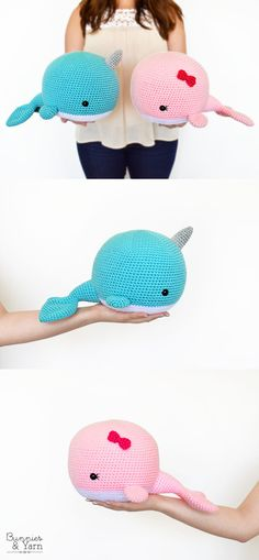 Crochet Pattern - Neil the Narwhal and Wendy the Whale - Amigurumi