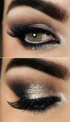 Suttleness of a smokey eye...  SEXY esp with the dark brow!  Notcie the white liner on the water liner!  Makes the eye appear bigger!