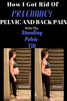 Week Fit Pregnancy Update Back pain during pregnancy can be caused by stretching and weakened core muscles. Standing pelvic tilt tones the abdominals during pregnancy, but it also helps relieve back pain and pelvic pressure. Exercise During Pregnancy, Pregnancy Health, First Pregnancy, Pregnancy Workout, Pregnancy Tips, Pregnancy Back Pain, Pregnancy Fitness, Pregnancy Humor, Third Trimester Workout