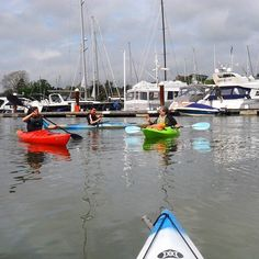 Paddled a kayak up the Hamble River Southampton today. Millionaires park their boats super yachts here. Trick with the tides to avoid scraping the hulls of these luxury boats.