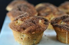 Cinnamon Apple Muffins -- Recipe using SweeTango apples, a new hybrid of the Honeycrisp and Zestar varieties!