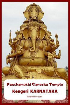 Panchamukhi Ganesha Temple, Famous Landmark in Kengeri - i Share Hampi, India Travel Guide, Asia Travel, Mysore, Modena Italy, Hindu Festivals, Single Tree, Water Reflections, Famous Landmarks