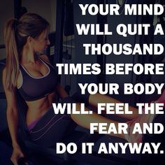 Don't listen to what your mind tells you! You can accomplish much more than you think! Get Fit. Lose weight. Look great! http://www.onesteptoweightloss.com/home-workout-routines @homeweightloss