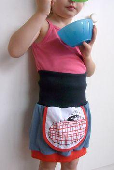 Girl skirt in handmade TILdi LL  collection by KleineKlara, $32.00