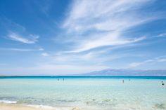 """Ganz im Süden, etwa 14 Kilometer vor Ierápetra, schwimmt die """"Goldene Insel"""" Chrissi im blauen-lauen Libyschen Meer. Heiratswillige Paare ....."""