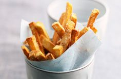 A simple Sweet potato fries recipe for you to cook a great meal for family or friends. Buy the ingredients for our Sweet potato fries recipe from Tesco today.