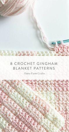 8 Crochet Gingham Blanket Patterns