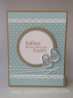 Baby Boy!  Cuddles and Kisses, Baby We've Grown sets from Stampin' Up! by LePapierPalette