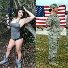 Here we share a new collection of ARMY WOMEN in and out of uniform. These are the 77 beautiful ARMY WOMEN looking gorgeous without uniform. Mädchen In Uniform, Female Army Soldier, Vaquera Sexy, Looking Gorgeous, Beautiful, Military Girl, Military Women, Girls Uniforms, Women Hunting