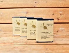 One of each variety below or 4 of each variety:1.  1 x 130+/-10g  Orange Anise Mint Pure olive oil soap ( All Vegan)Ingredients: Australian Extra Virgin Olive Oil, Water, Sodium Hydroxide,  Pum...