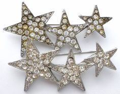 Pair of Star Brooches with Clear Rhinestones 2 Triple Star Pins Vintage Jewelry  | Jewelry & Watches, Vintage & Antique Jewelry, Costume | eBay!