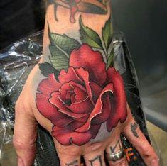 Floral Tattoo Design, Flower Tattoo Designs, Flower Tattoos, Rose Tattoos For Women, Tattoos For Guys, Dream Tattoos, Body Art Tattoos, Tatoos, Tattoo Rosa Na Mao