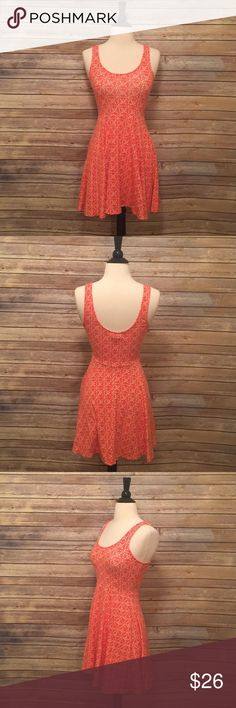 """Urban Outfitters Dress Ecote from Urban Outfitters.  Coral and White dress.  Length 31"""" Urban Outfitters Dresses Mini"""