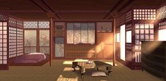 Episode Backgrounds, Anime Backgrounds Wallpapers, Anime Scenery Wallpaper, Japanese Bedroom, Japanese Interior, Scenery Background, Animation Background, Casa Anime, Bedroom Drawing