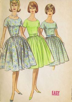 """Vintage 1 PC Dress 60s Sewing Pattern McCall 5852 Size 10 Bust 31 Hip 33"""" Uncut   eBay"""