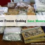 Does Freezer Cooking Save Money?