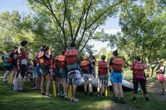 Group heading out on an adventure on the Lower Animas.