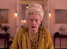 Madame D. by Tilda Swinton in The Grand Budapest Hotel