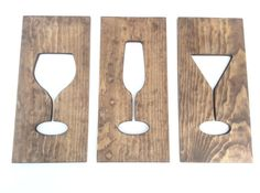 Wine glass and cocktail glass Kitchen Art Wooden Plaques Wine Glass Wall Decor Housewares Art Carved In Wood