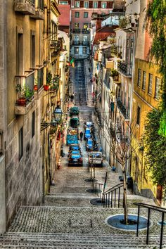 .. lisbon streets .. by syntheticdreamer
