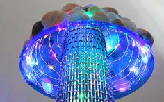 Turn those seashells you collected at the beach into a futuristic looking lamp!