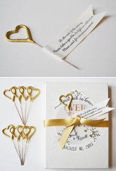 Custom Favor Boxes for your reception tables 10 Gold Heart Sparklers One Day My Prints Will Come // First Snow Wedding inspiration wedding decoration wedding decor  inspiration found and beautiful