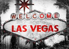 Scratched Aged Las Vegas Strip Sign Black and by WallArtPhotos. You can order this great image through my Etsy shop.