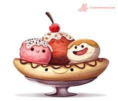 Daily Paint #1118. Have a nice Sundae! by Cryptid-Creations.deviantart.com on @DeviantArt