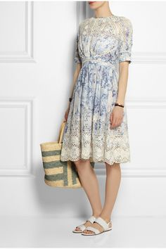 ZIMMERMANN Confetti embroidered floral-print cotton dress £393.75 http://www.net-a-porter.com/products/513118