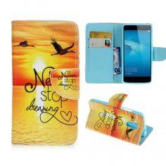 Huawei Honor 7 Lite auringonlasku puhelinlompakko. Phone, Telephone, Mobile Phones