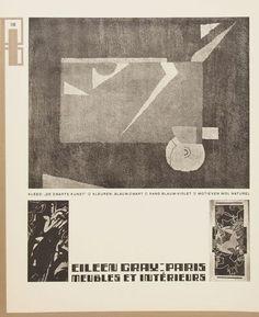 Wendingen, editorial Eileen Gray, 1924