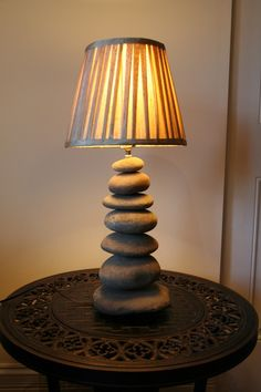 A lamp made from river rock?  This makes my heart happy.
