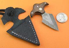 3 Custom 100 Handmade Damascus Steel Mini Miniature by SanaCutlery, $29.99
