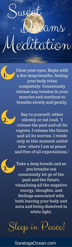 Taking a few minutes before you go to sleep to meditate can help you get into a more peaceful state and thus promote a better nights rest. Let this meditation help you release the past and anything thats worrying you about the future. Really embrace the