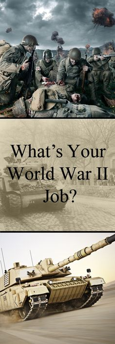 The Second World War was an all out effort, spanning the whole of society. From Victory Gardens all the way to the front lines, everyone did their bit. What would your role have been?