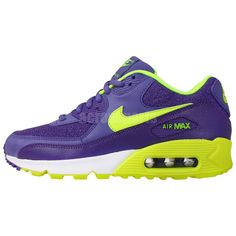 Nike Wmns Air Max 90 Purple Volt 2014 NSW Womens Running Casual Shoes  Sneakers Check more