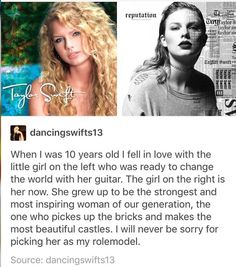 I am so inspired by her. I have loved her from the day I was born. I know almost everything g about her and she is my rolemodel. I willl never be sorry for that Taylor Swift Fan Club, Taylor Swift Quotes, Long Live Taylor Swift, Taylor Swift 13, Swift 3, Swift Facts, Tough Woman, Amazing Person, Fatale
