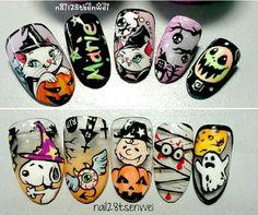 halloween weiwei halloween weiwei Source by Crazy Nail Art, Crazy Nails, Love Nails, Fun Nails, Pretty Nails, Cute Acrylic Nail Designs, Cute Acrylic Nails, Autumn Nails, Fall Nail Art