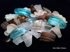 Lovely Rims from Sea Glass Visions: ~ submitted by Catherine Kelly in Glen Burnie, Maryland  All of these rims were found in local waterways near my home in Maryland.  This photo was taken